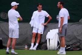 Nadal practica los 'passings' y Federer se aisla antes de la semifinal