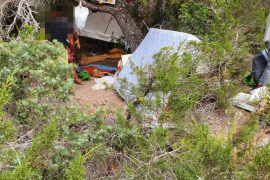 Sant Antoni retira 600 kilos de basura en la montaña de Sa Talaia