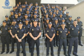 Más de 90 policías nacionales realizan sus prácticas en Mallorca, Menorca e Ibiza