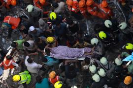 Derrumbe de edificio en Bombay