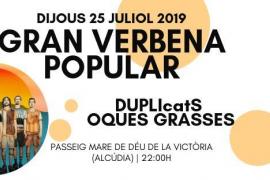 Duplicats y Oques Grasses serán los encargados de inaugurar la Gran Verbena Popular en Alcúdia
