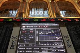 La Bolsa española sufre la mayor caída en tres meses y medio al bajar un 3,39
