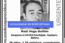 Localizado en buen estado el hombre desaparecido en Cala Rajada