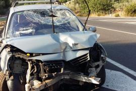 Al menos un herido en un accidente en la carretera de Sóller