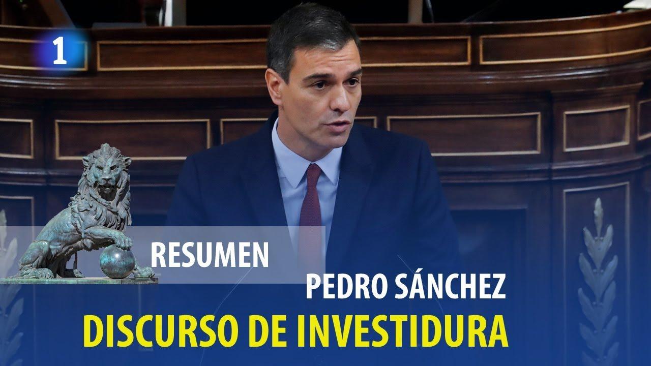 Así ha sido el discurso íntegro de Sánchez en el debate de investidura