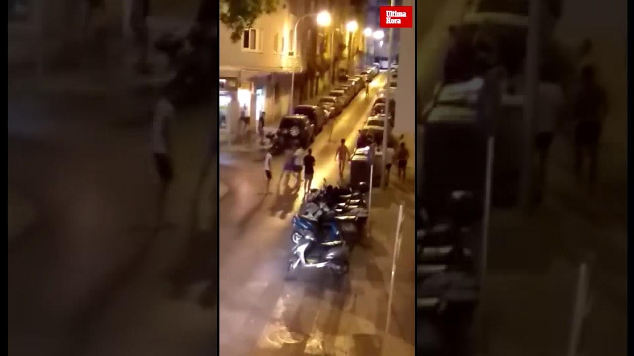 Pelea nocturna en Palma