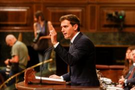 Rivera recalca que votarán no al «plan Sánchez» y a «la banda» que lo llevará a cabo