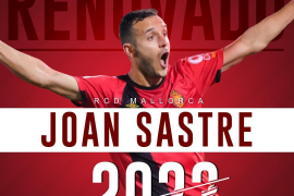 Joan Sastre renueva con el Real Mallorca hasta 2023
