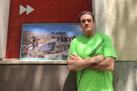 El actor César Vea, en huelga de hambre