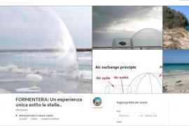 Alquilan un iglú de plástico en Formentera por 210 euros la noche