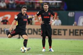 El mallorquín Toni Moya luce sus cualidades en el triunfo del Atlético