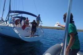 Casi 2.500 embarcaciones, obligadas a desplazarse por fondear sobre posidonia en Baleares