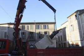 El Ayuntamiento de Sineu retira la polémica estatua de Jaume II