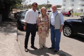 Rafa Nadal, con don Juan Carlos y doña Sofía
