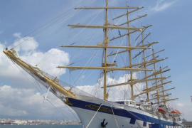 El 'Royal Clipper', el velero más grande del mundo, en Palma