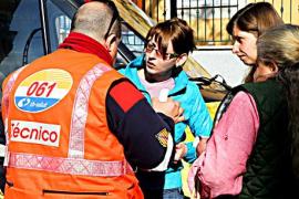 Un autobús de la EMT frena para evitar un accidente en Son Ferriol y 14 personas resultan heridas