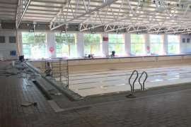 La piscina de la UIB, cerrada por obras