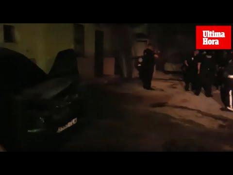 Las llamas devoran un coche en Andratx