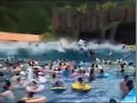Un error en una piscina de olas de China deja 44 heridos