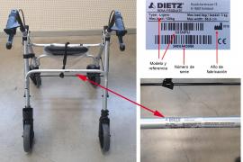 Sanidad alerta: estos andadores pueden volcarse o romperse