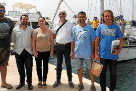 El GEN y un grupo de voluntarios estudian en Formentera la salud de la posidonia