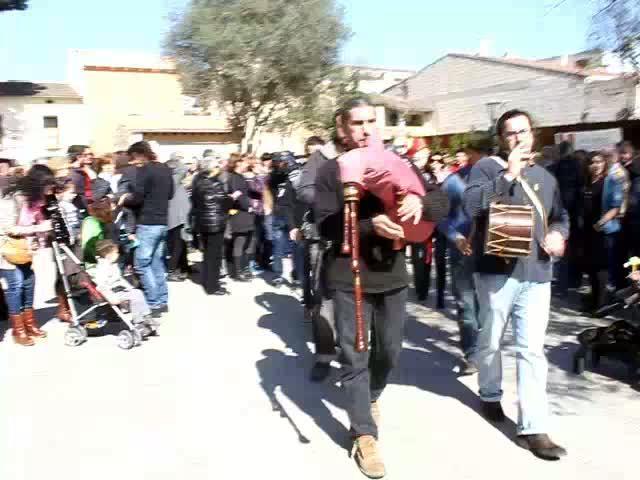 Medio millar de personas se concentran en sa Pobla en defensa de la lengua catalana