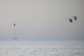 El 'hombre volador' cruza el canal de la Mancha