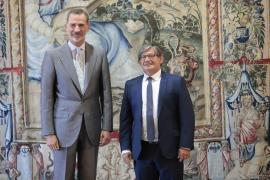 Thomàs destaca al Rey la diversidad ideológica del Parlament