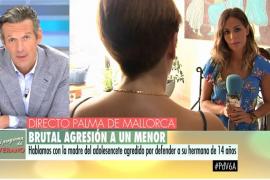 El testimonio de la madre del joven agredido en la Playa de Palma: «Está mal, tiene toda la cara inflamada»