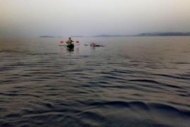 Más de 30 horas a nado entre Ibiza y Mallorca