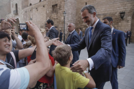 Las imágenes de la recepción real en el Palacio de la Almudaina