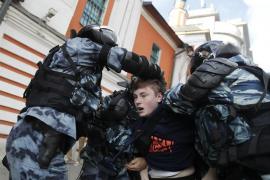 La mayor manifestación contra Putin en años se salda con más de 300 detenidos en Moscú y San Petersburgo
