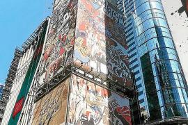 Domingo Zapata comienza a trazar su gran instalación en Times Square