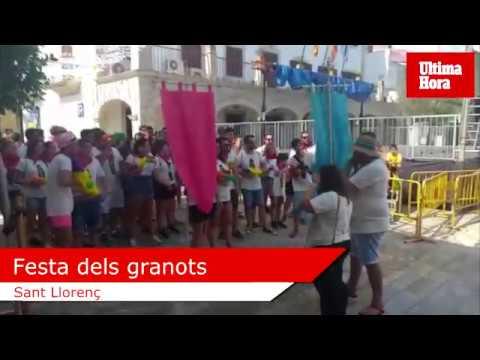 Sant Llorenç escenifica la 'batalla' festiva de 'sa Granotada'