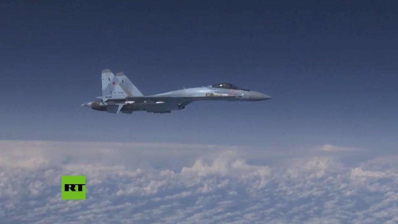 Tensión entre dos aviones rusos y un caza español sobre el Báltico