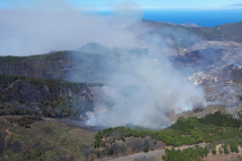 El incendio de la cumbre de Gran Canaria, estabilizado después de cuatro días