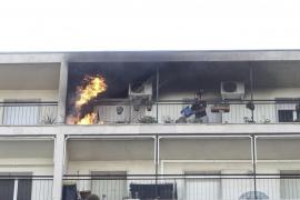 Una barbacoa provoca un incendio en un piso del Paseo Marítimo de Palma