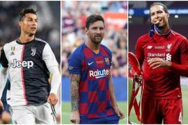 Messi, Cristiano y Van Dijk se disputarán el Premio Jugador del Año de la UEFA