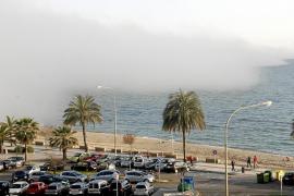 Cinco vuelos desviados en Son Sant Joan por la niebla que cubrió Palma