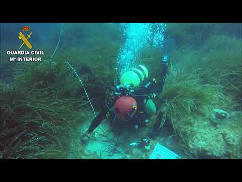 La Guardia Civil localiza un cepo y un ancla de la época romana en el fondo marino del norte de Mallorca