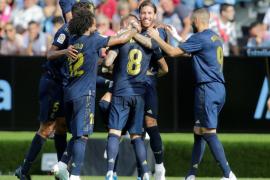 La pegada del Real Madrid acaba con el Celta en Balaídos