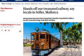 La puja por el tren de Sóller, en la prensa británica