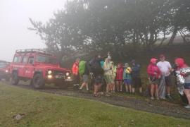 Rescate de veinte peregrinos irlandeses en apuros