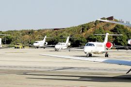 La competencia de Turquía y Egipto provoca la caída de jets privados en Mallorca