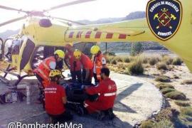 Herida grave una mujer tras sufrir un accidente en Escorca