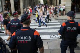 Antidisturbios para reforzar la seguridad en el centro de Barcelona
