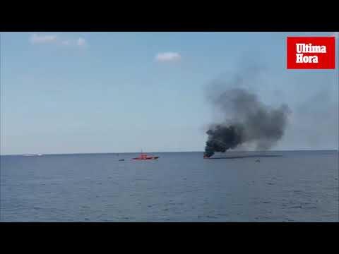 Un herido grave en la explosión de la lancha en Port Adriano
