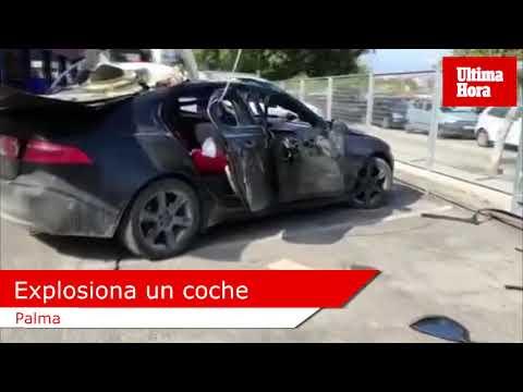 Explosiona un coche en el polígono de Son Castelló