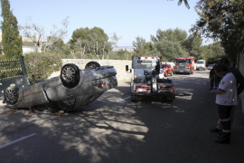 Un hombre de 80 años resulta herido en un accidente de tráfico en Son Vida