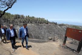 Pedro Sánchez visita las zonas del incendio de Gran Canaria